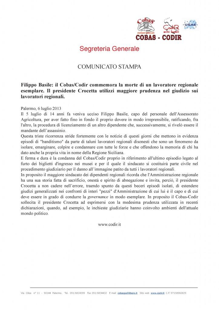 comunicato stampa 6 luglio 2013(1) (1)