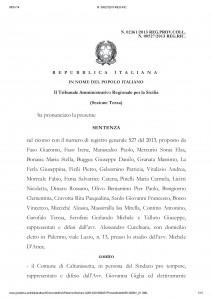 Sentenza Tar annullamento avviso di selezione pubblica 44 posti Comune Caltanissetta N. 00527_2013 REG.RIC