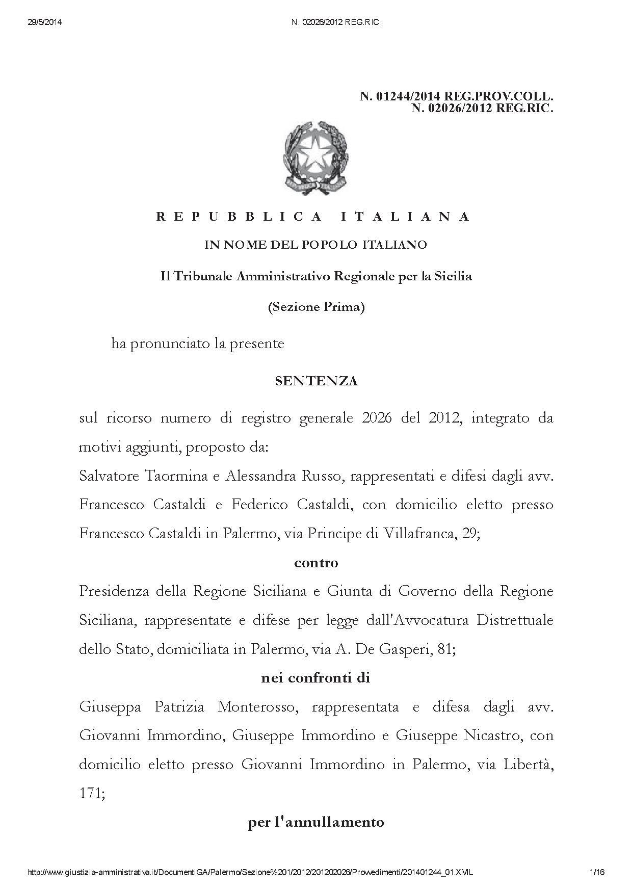 Dirigenti illegittimi - N. 02026_2012 REG.RIC