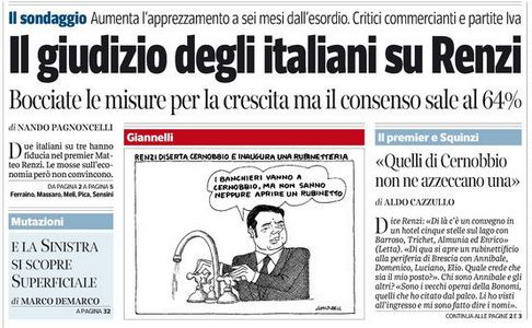 Il giudizio degli italiani su Renzi
