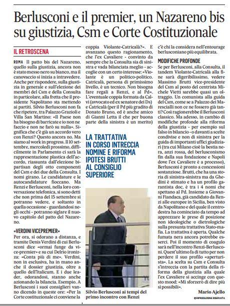 Il Messaggero del 5 settembre 2014