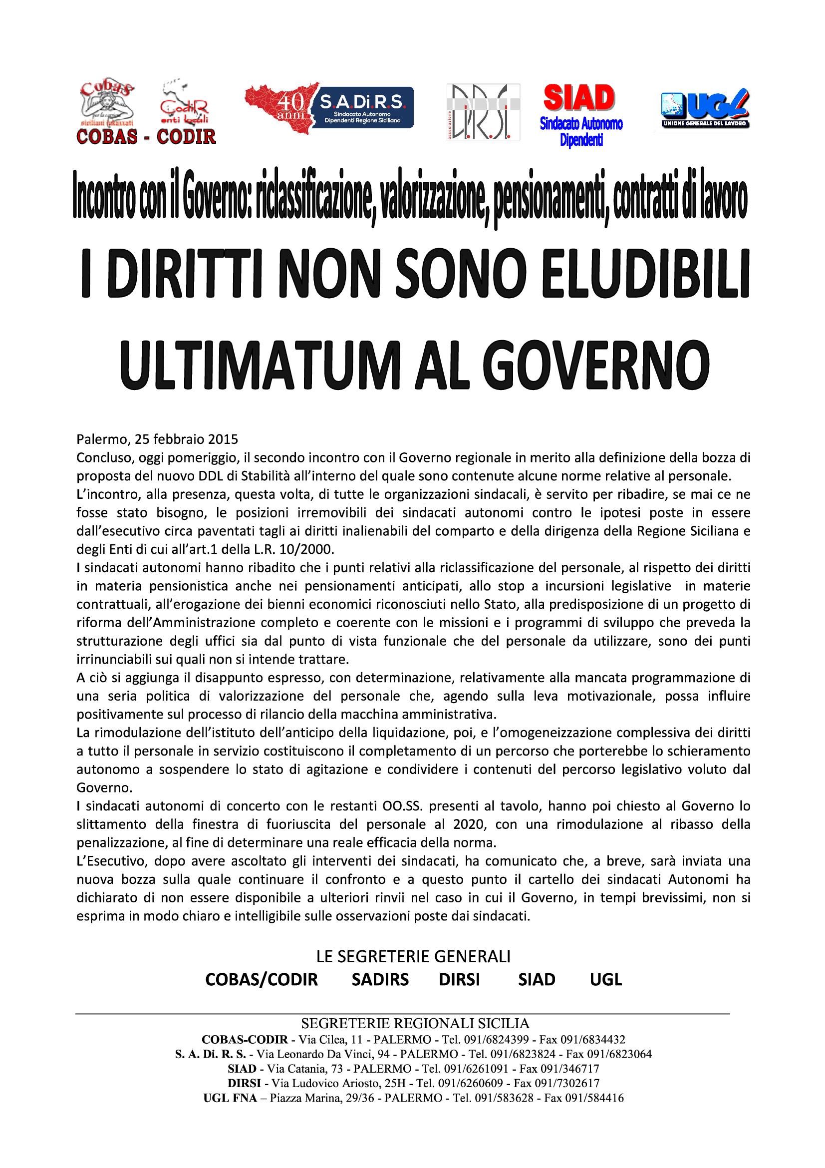 Ultimatum al governo i diritti acquisiti non si toccano sindacando il blog di benedetto mineo - Calcolo finestra pensione ...