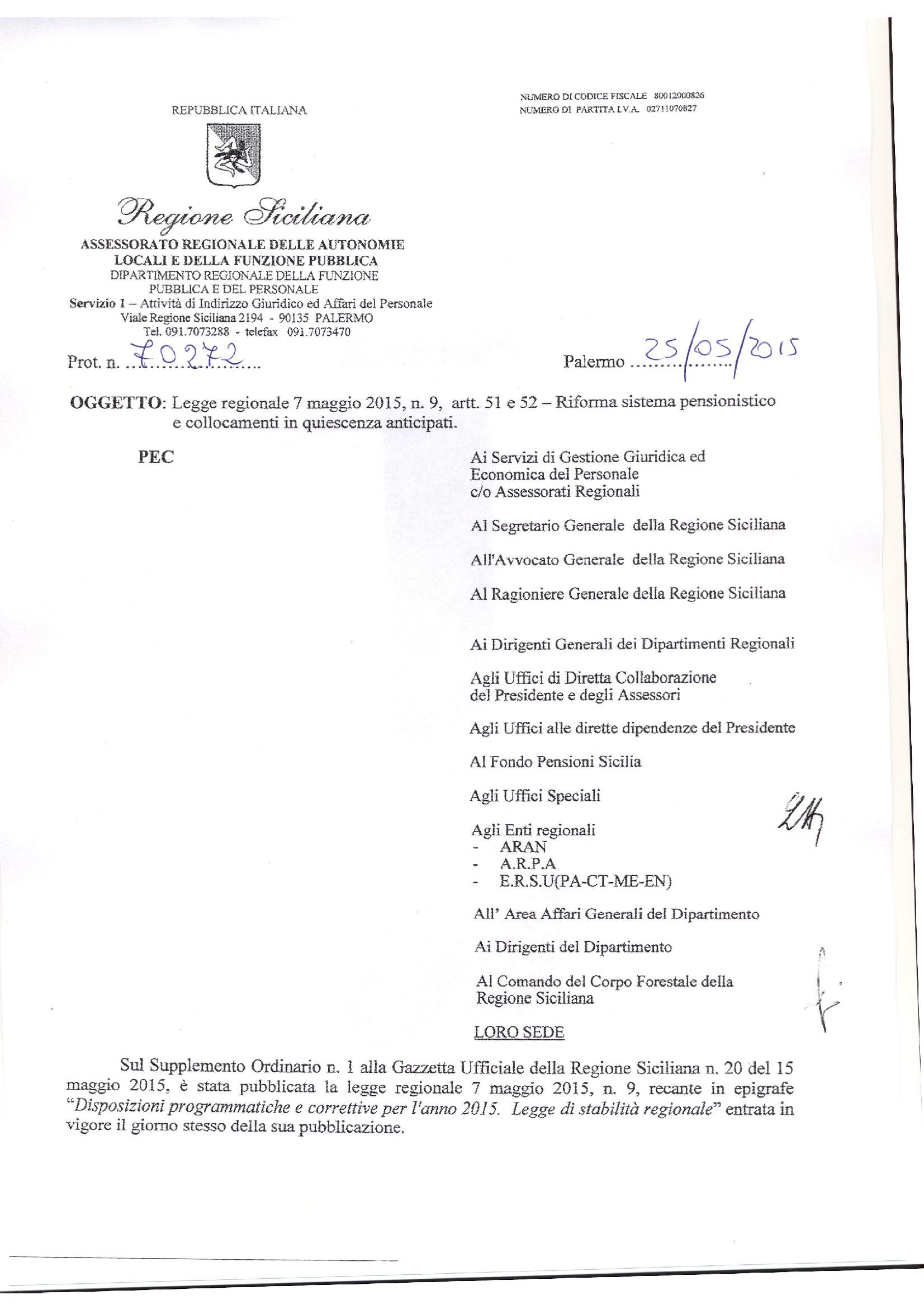Riforma-sistema-pensionistico-Circolare 70272 del 25 maggio 2015