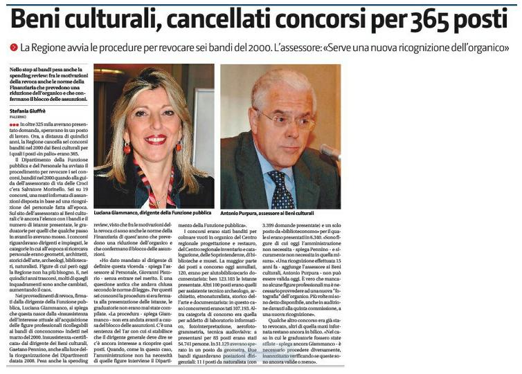 Beni culturali. Cancellati concorsi per 365 posti