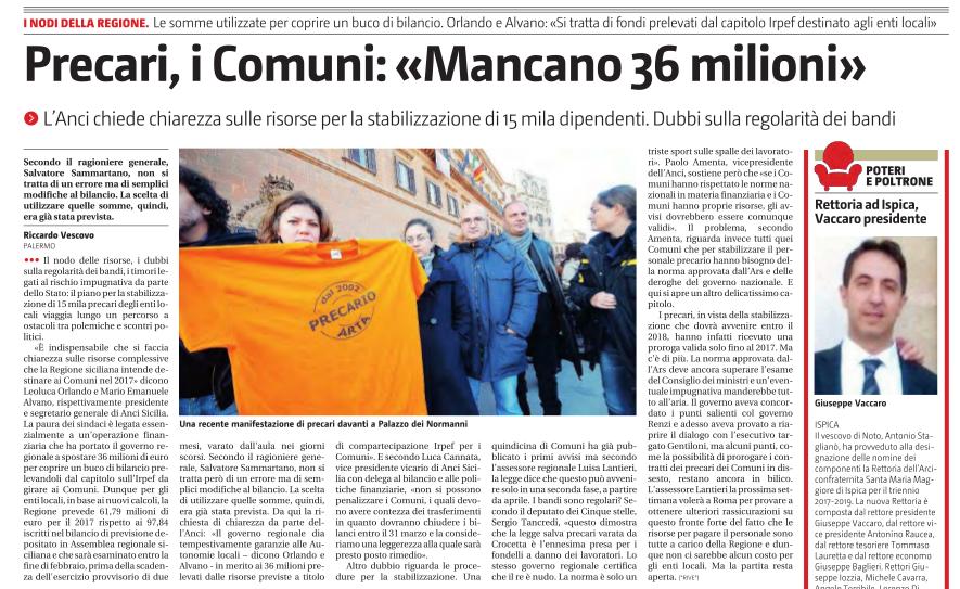 giornale-di-sicilia-del-6-gennaio-2017-precari-dei-comuni-mancano-36-milioni