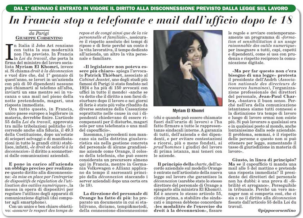 italiaoggi-del-5-gennaio-2017-in-francia-stop-a-telefonate-e-mail-dallufficio-dopo-le-18